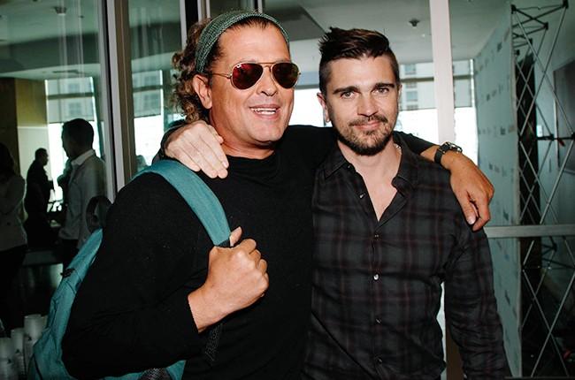 Carlos Vives and Juanes at the Billboard 2014 Latin Music Conference