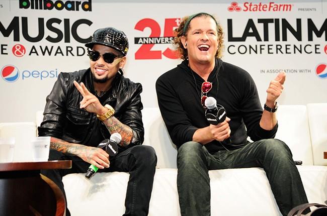 David Correy and Carlos Vives at the Billboard 2014 Latin Music Conference