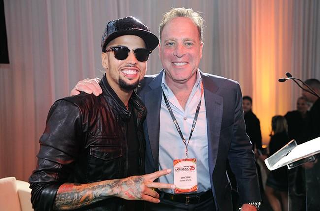 David Correy and Steve Schnur at the Billboard 2014 Latin Music Conference