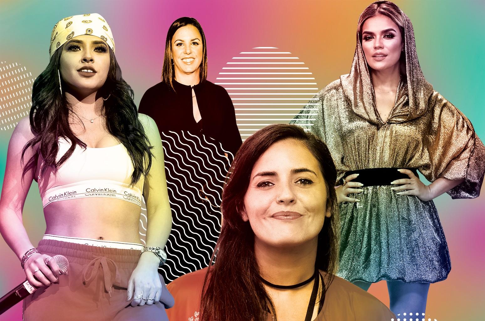From left: BeckyG, León, Guerrero and KarolG.