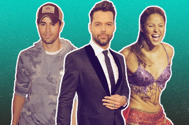 Enrique Iglesias, Ricky Martin, and Shakira