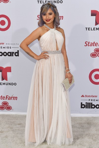 Laura Sanchez arrives at 2015 Billboard Latin Music Awards