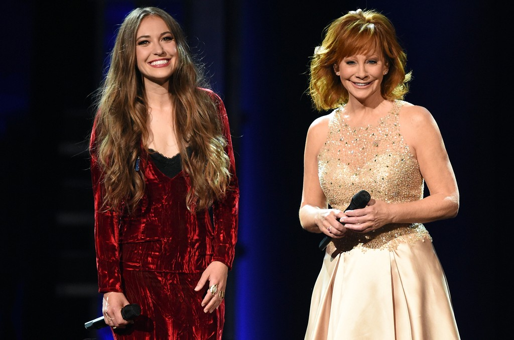 Lauren Daigle and Reba McEntire perform onstage during the 52nd Academy Of Country Music Awards at T-Mobile Arena on April 2, 2017 in Las Vegas.