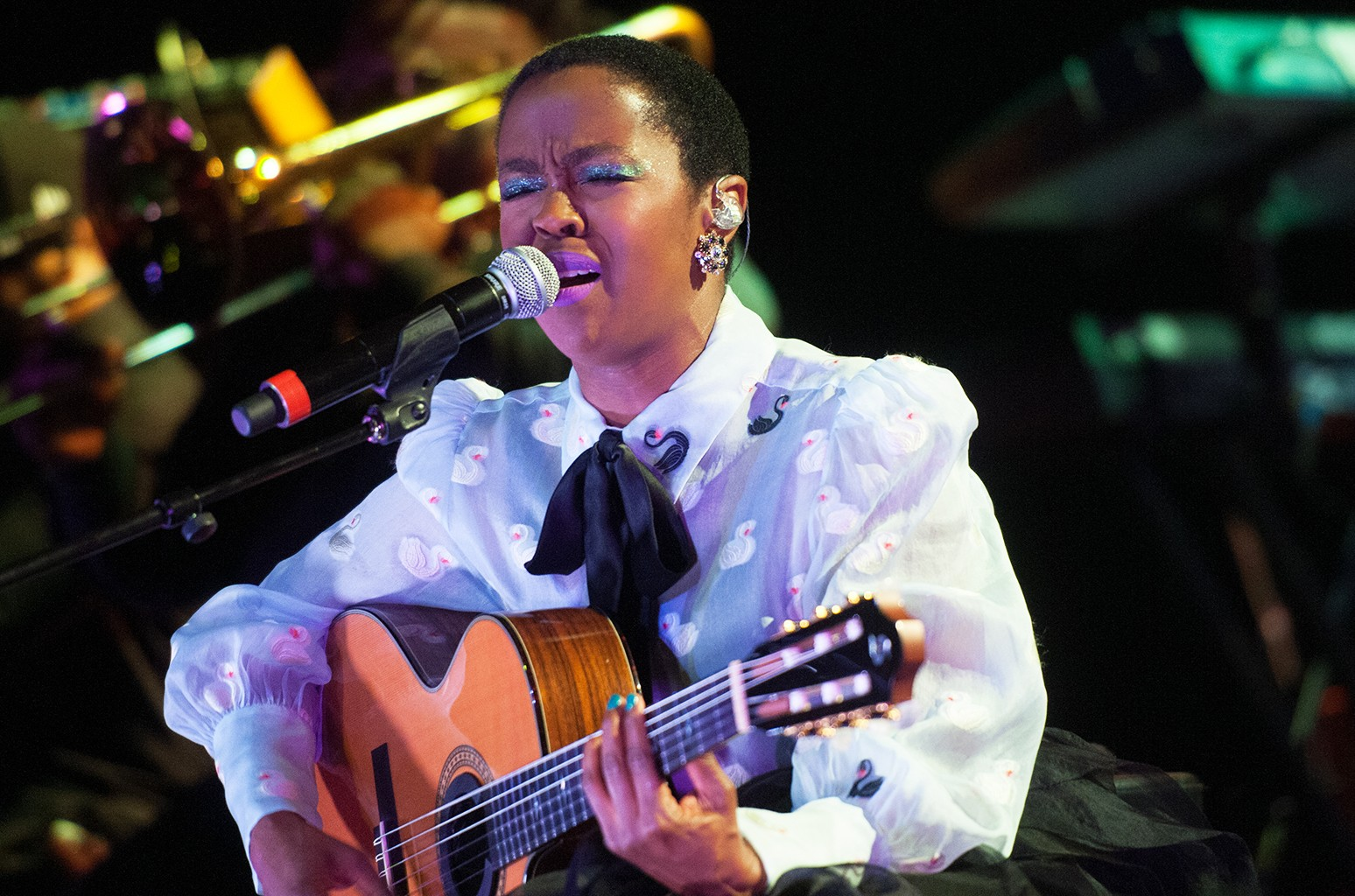 Lauryn Hill performs at the 2016 Montreal Jazz Festival.