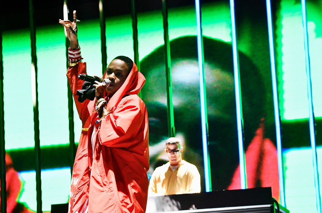 Lauryn Hill performs with DJ Snake at the Outdoor Stage during day 2 of the Coachella Valley Music And Arts Festival (Weekend 1) at the Empire Polo Club on April 15, 2017 in Indio, Calif.
