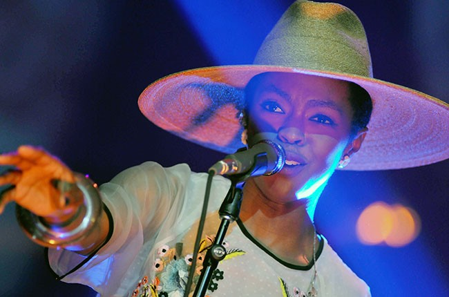 Lauryn Hill performs in concert at Iroquois Amphitheater