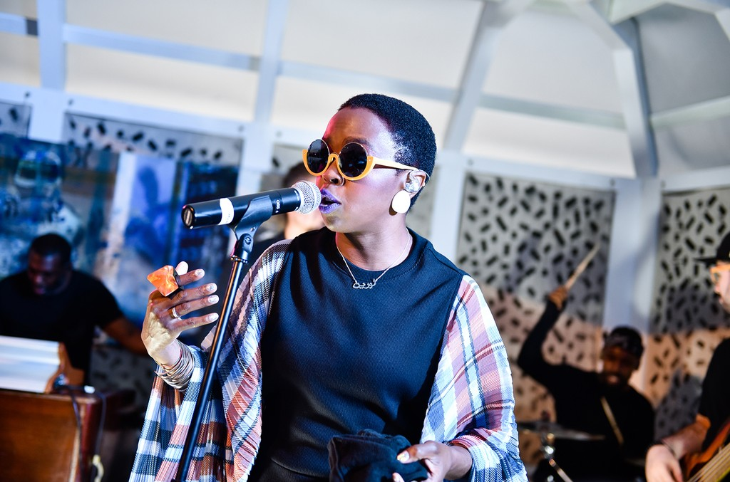 Lauryn Hill performs at The Surf Lodge on Aug. 25, 2017 in Montauk, NY.