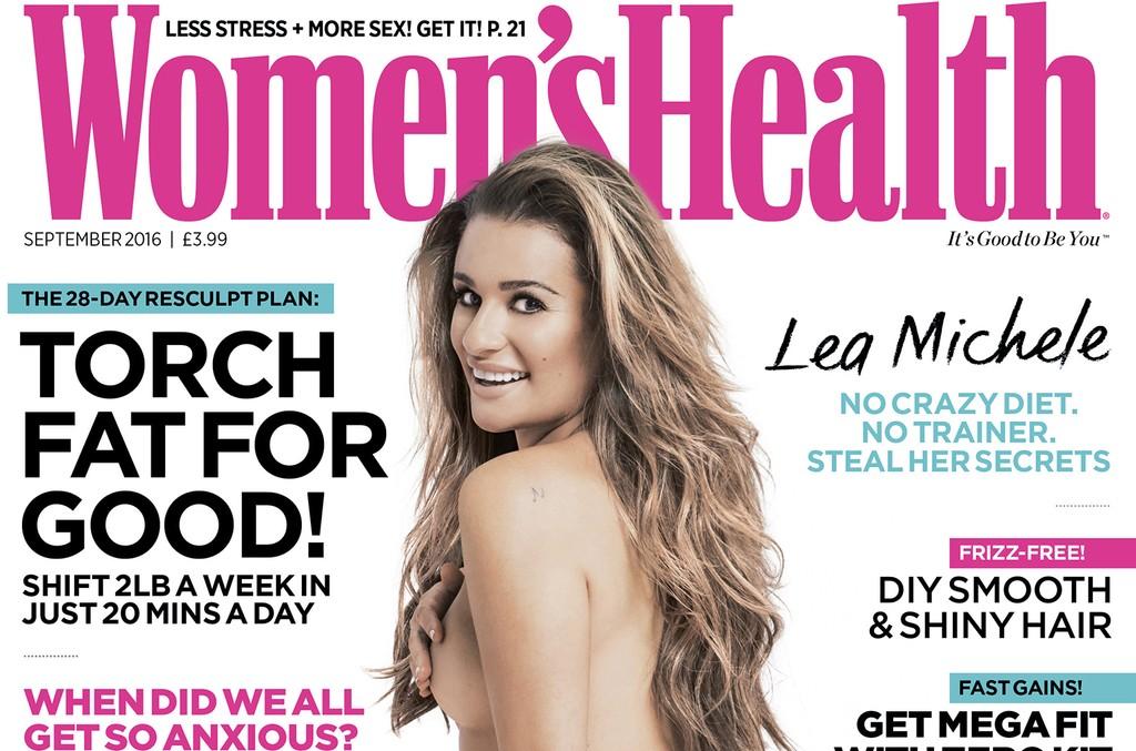 Lea Michele on the cover of Women's Health U.K.