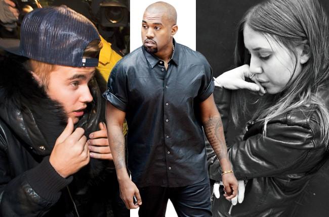Justin Bieber, Kanye West, Lykke Li in leather