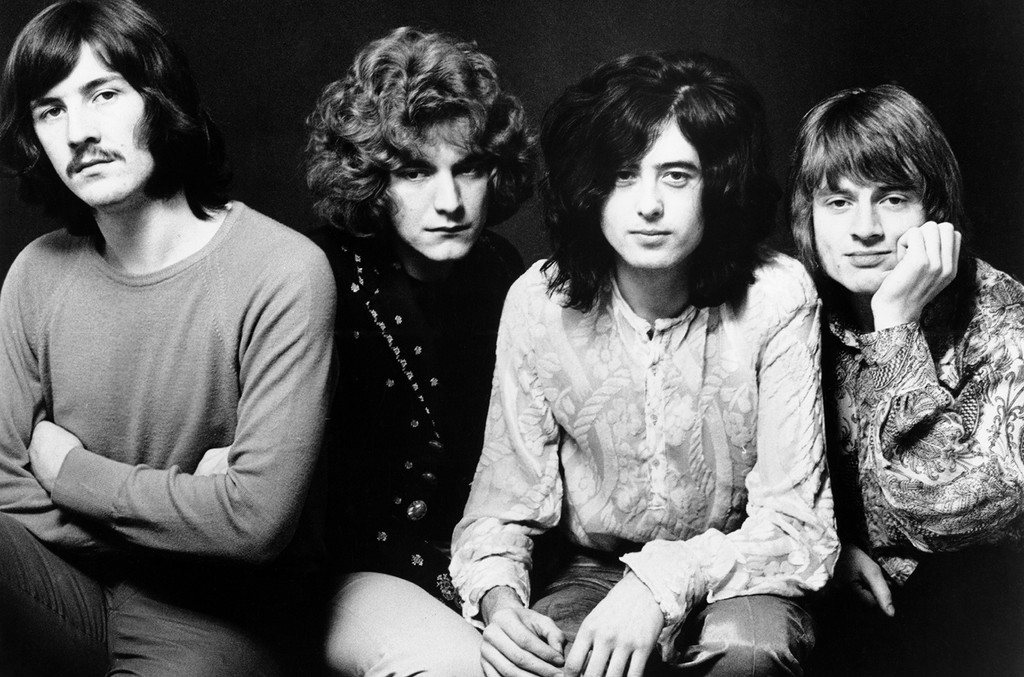 Led Zeppelin photographed in 1969.