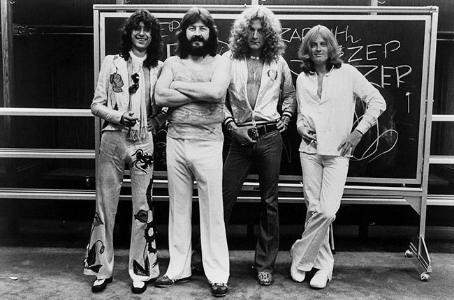Led Zeppelin photographed in 1977.
