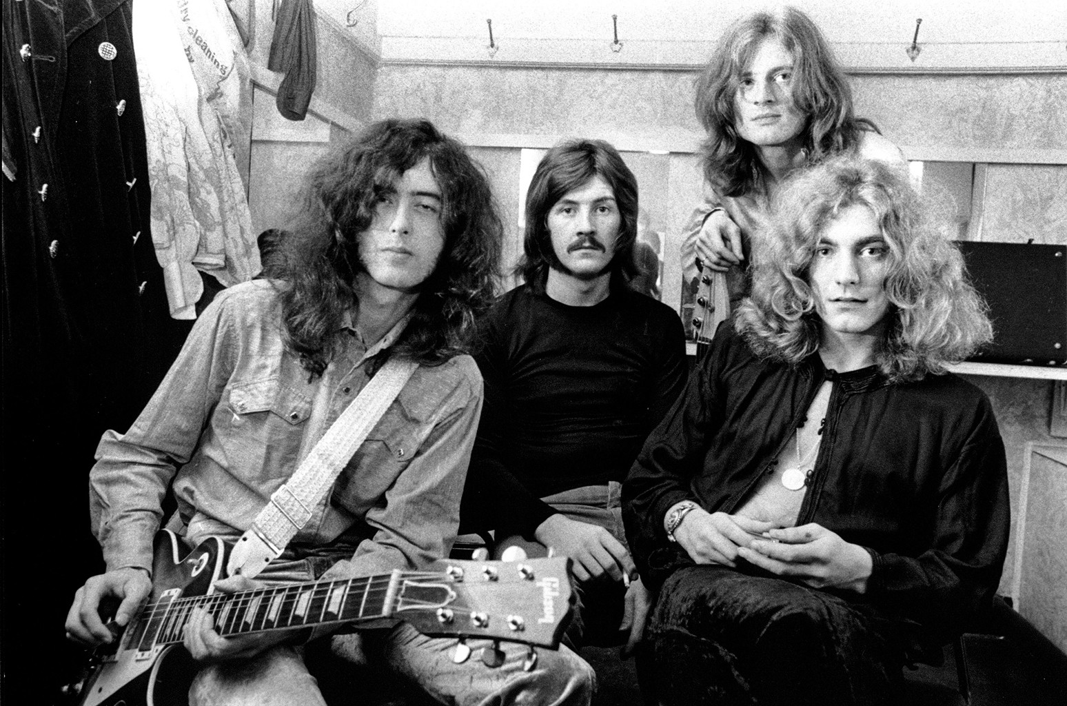 Led Zeppelin photographed circa 1969.