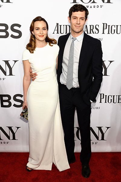 Leighton Meester and Adam Brody attend the 68th Annual Tony Awards
