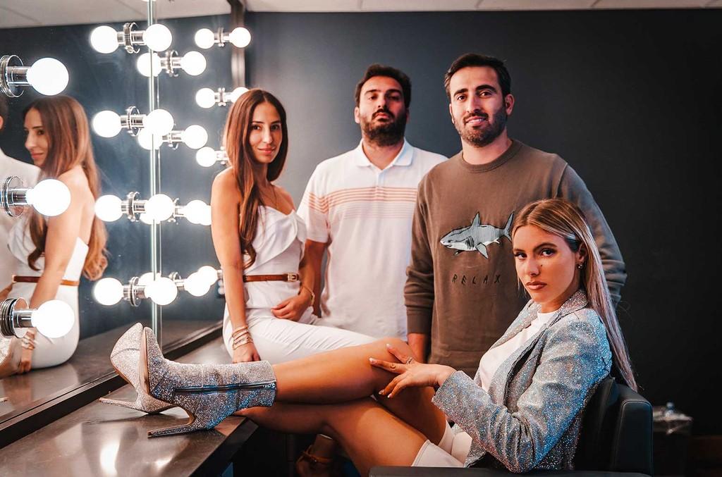 Celine Joshua, John Shahidi, Sam Shahidi, and Lele Pons