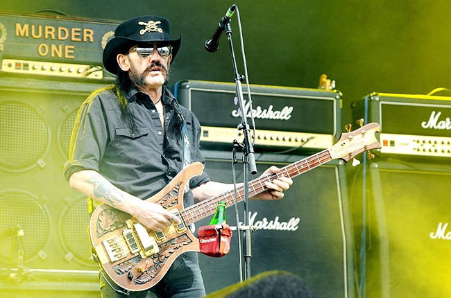 Lemmy of Motorhead performs at the Glastonbury Festival 2015