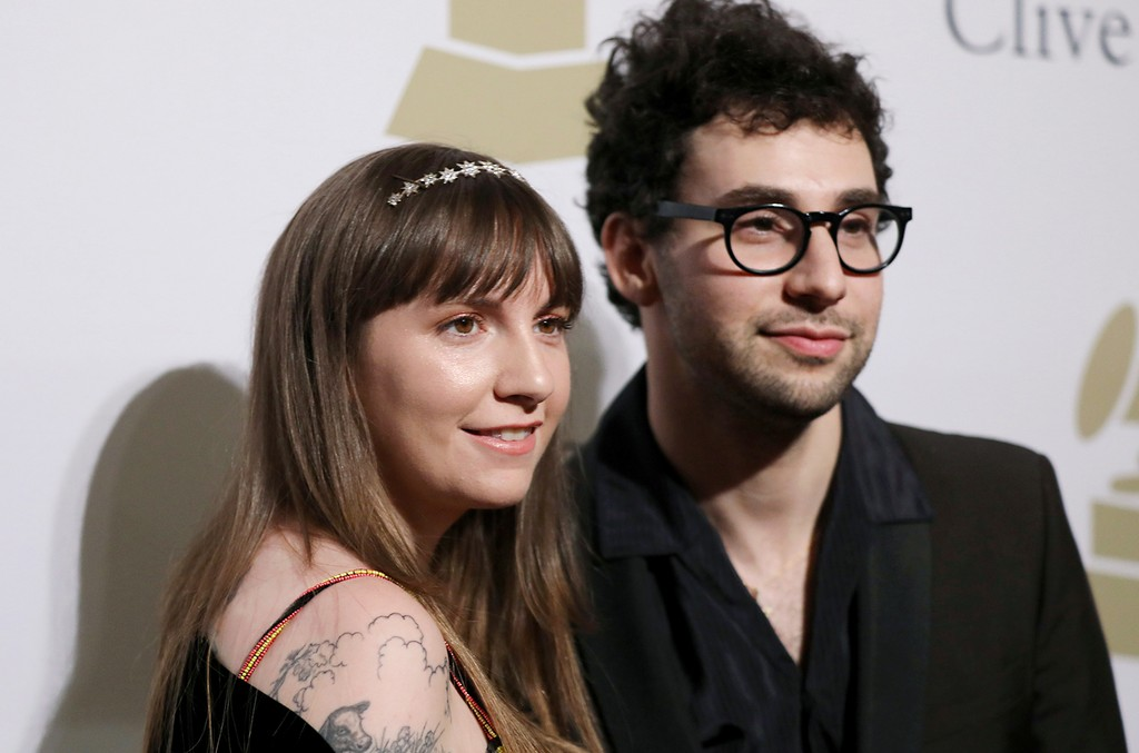 Lena Dunham and Jack Antonoff attend the Clive Davis and The Recording Academy Pre-Grammy Gala at The Beverly Hilton Hotel on Feb. 11, 2017 in Beverly Hills, Calif.