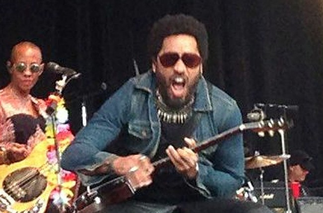 Lenny Kravitz suffers wardrobe malfunction as his pants rip, fully exposing himself to the crowd while performing at Grˆna Lund, Stockholm, Sweden on Aug. 3, 2015.