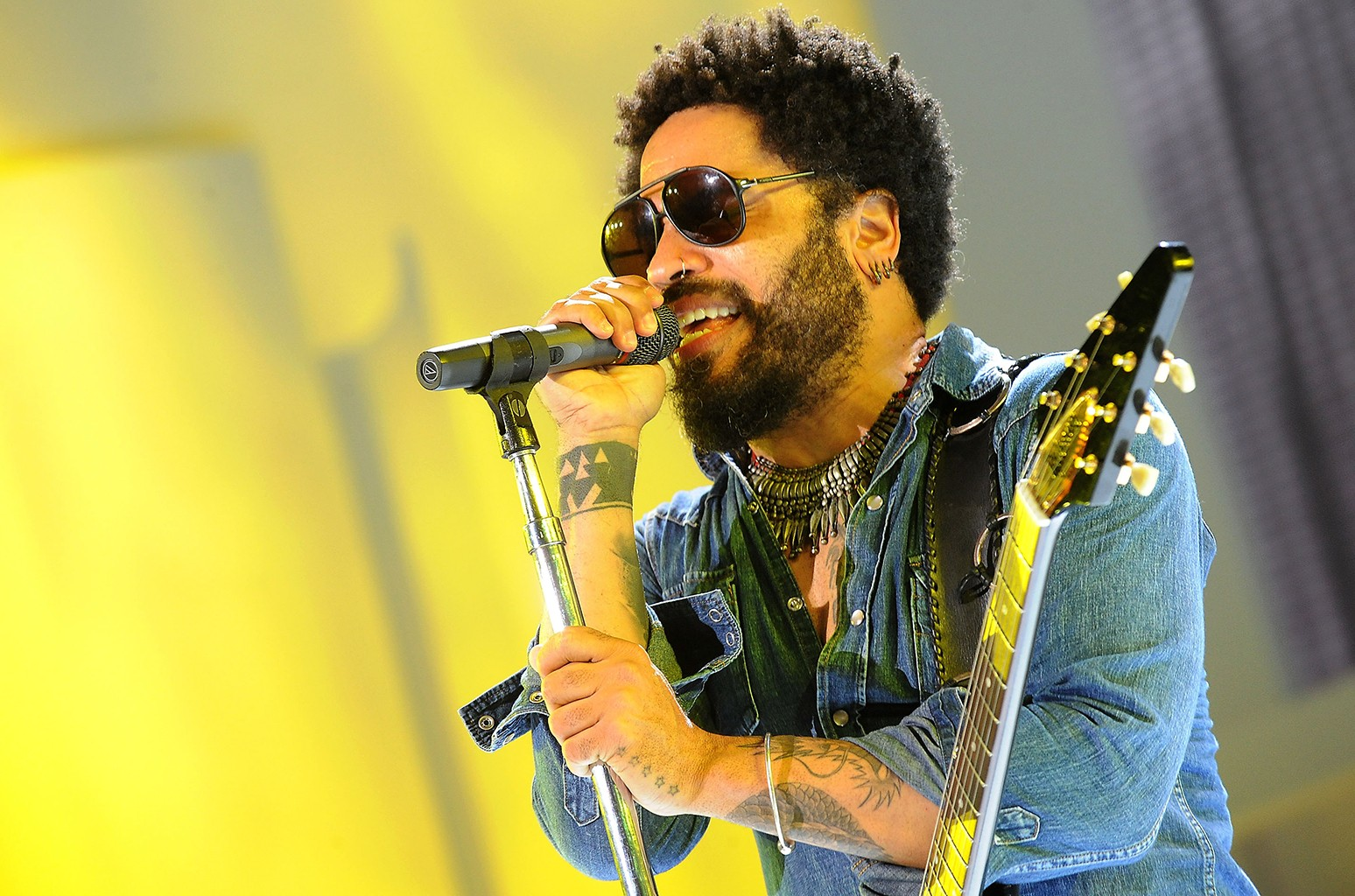 Lenny Kravitz performs in New York City