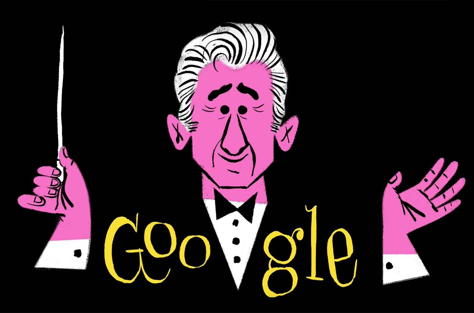Leonard Bernstein's 100th Birthday Google Doodle