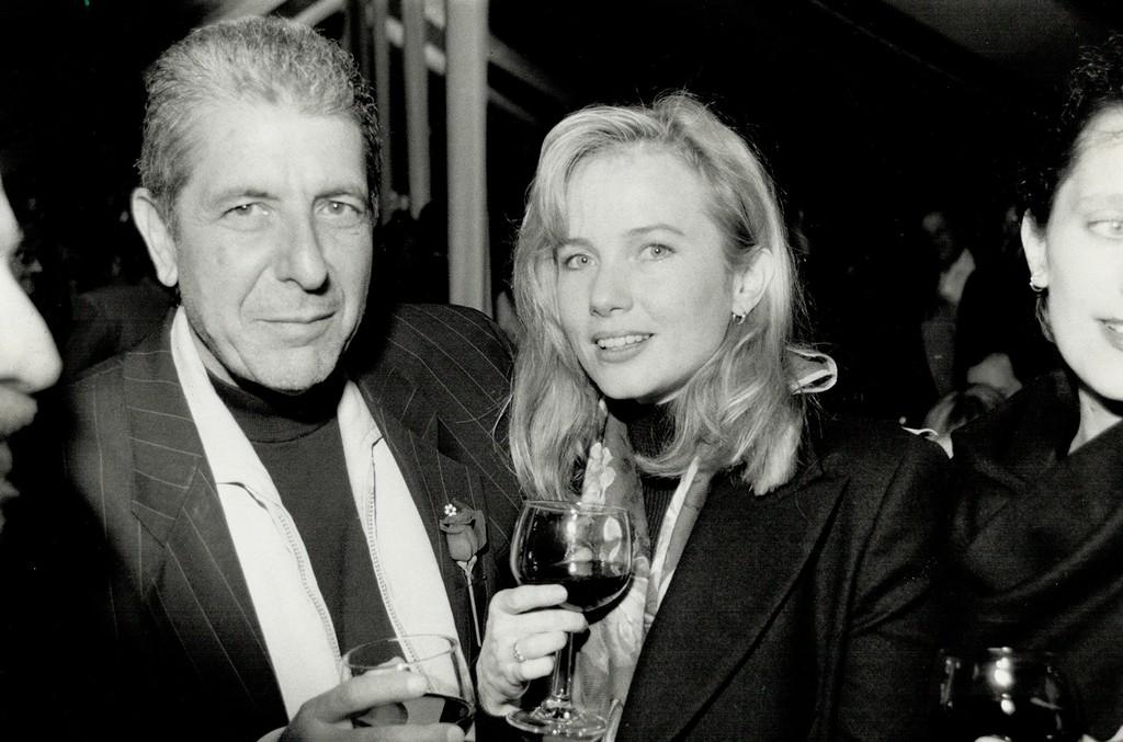 Leonard Cohen and Rebecca de Mornay.