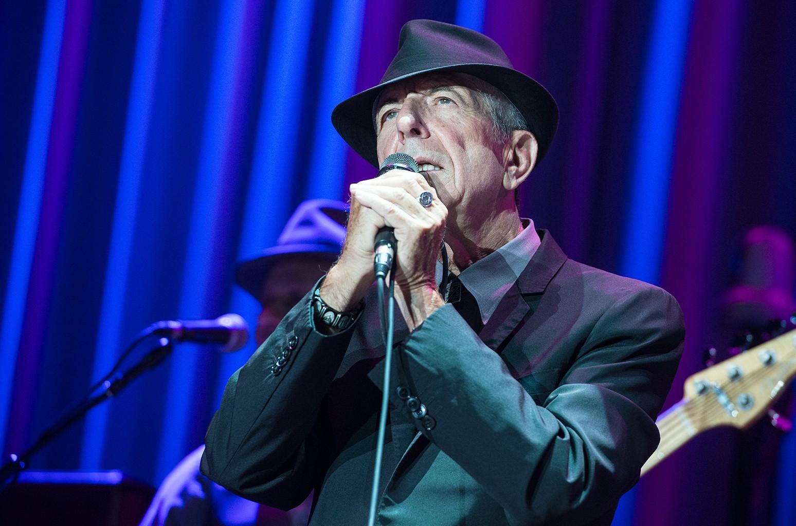 Leonard Cohen performs in 2013