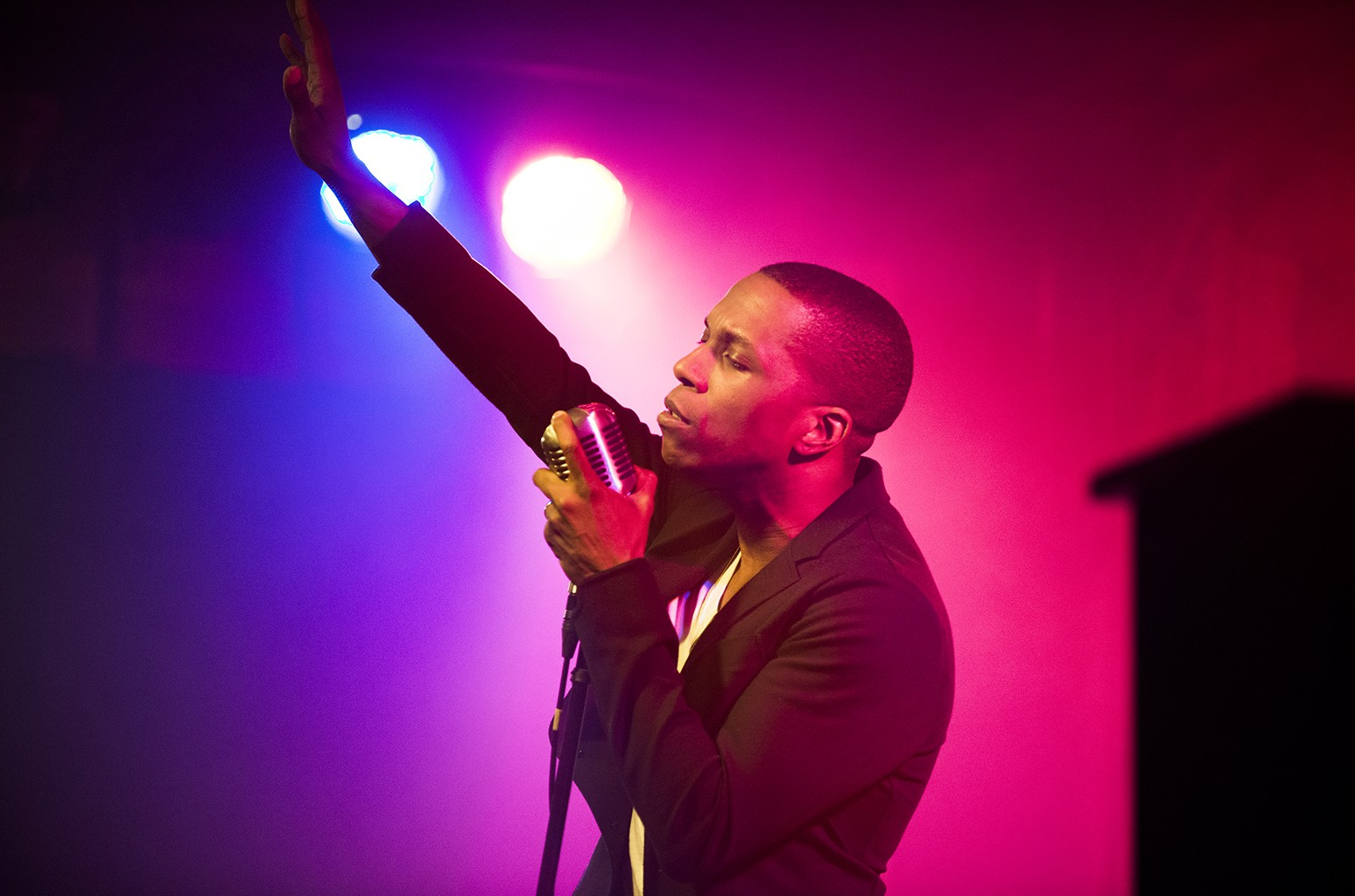 Leslie Odom Jr. performs during his album release party