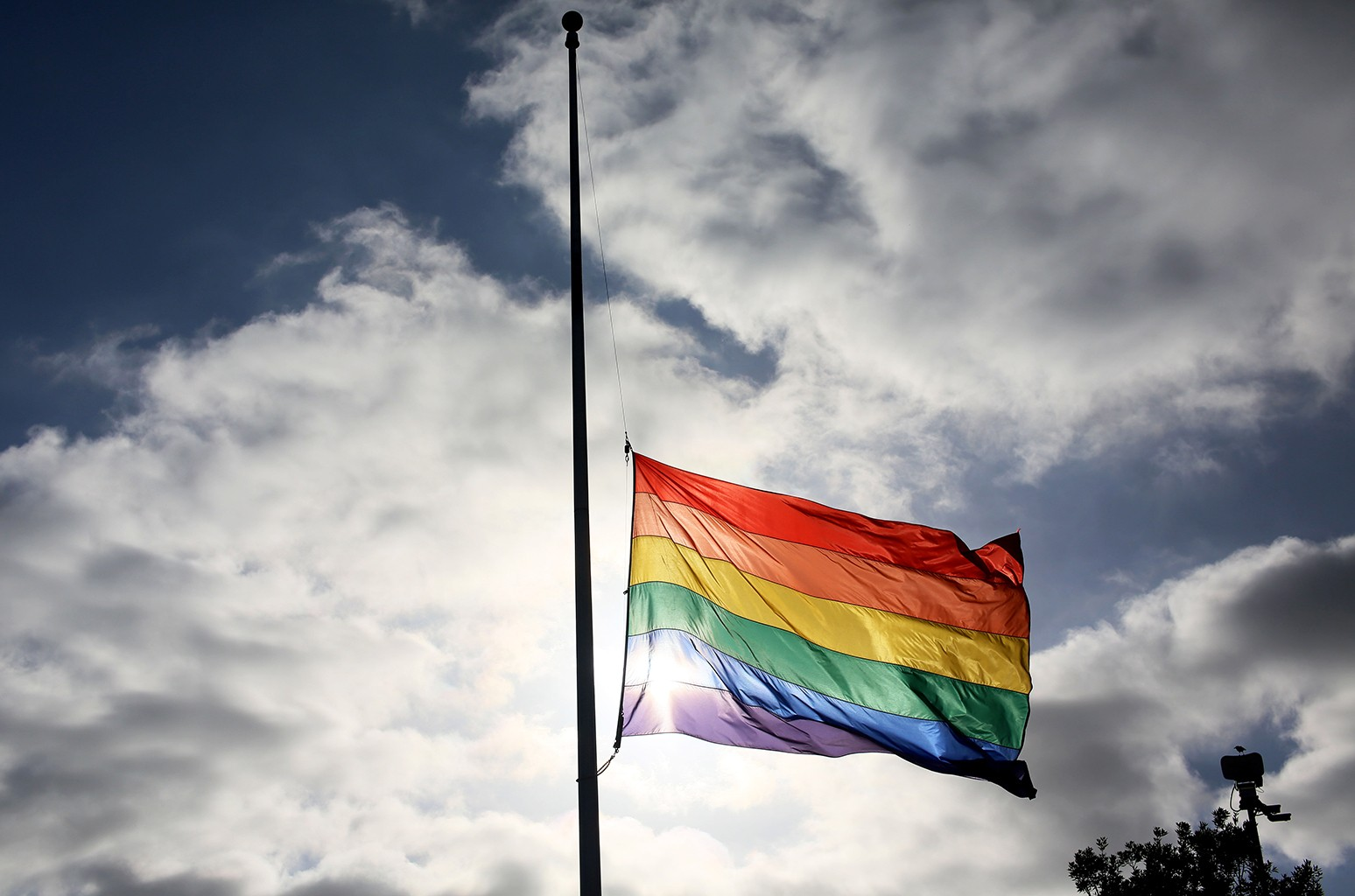 A pride flag in 2016