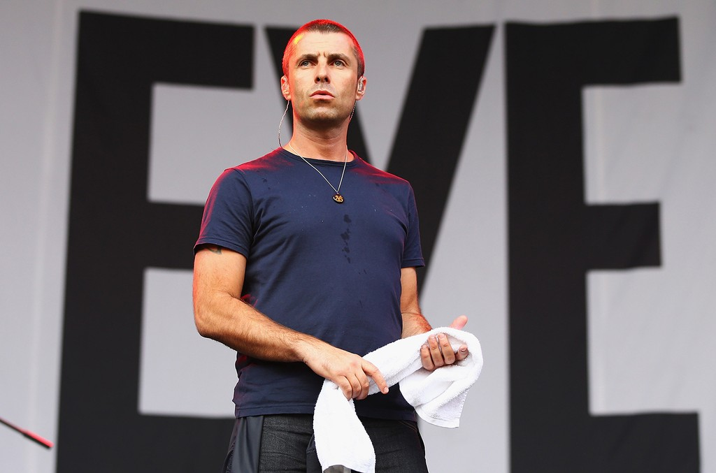 Liam Gallagher performs during the 2014 Big Day Out Festival
