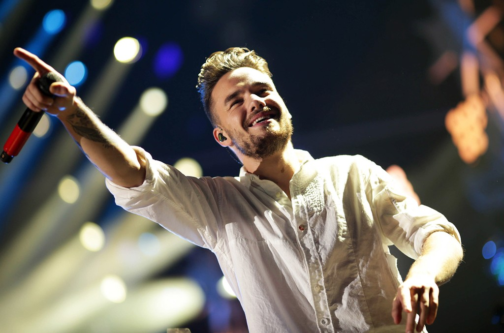 Liam Payne of One Direction performs at Staples Center
