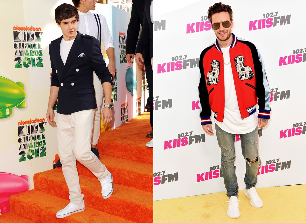 Liam Payne in 2012 (left); 2017 (right)