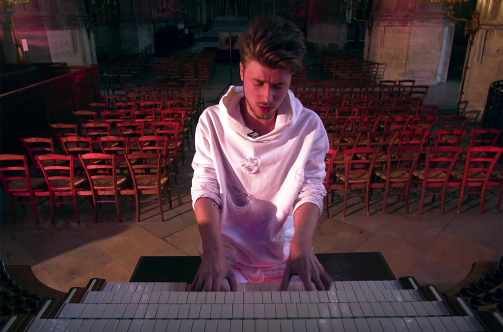 "Lido in the video for ""Angel (Acoustic)"""