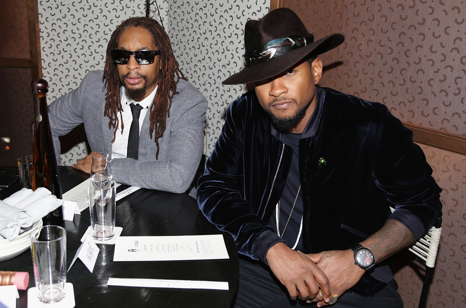 Lil Jon and Usher attend Lil Jon's Birthday Dinner For Pencils Of Promise at E.P. & L.P. on Jan. 24, 2017 in West Hollywood, Calif.
