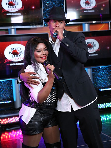 Lil' Kim and Nick Cannon