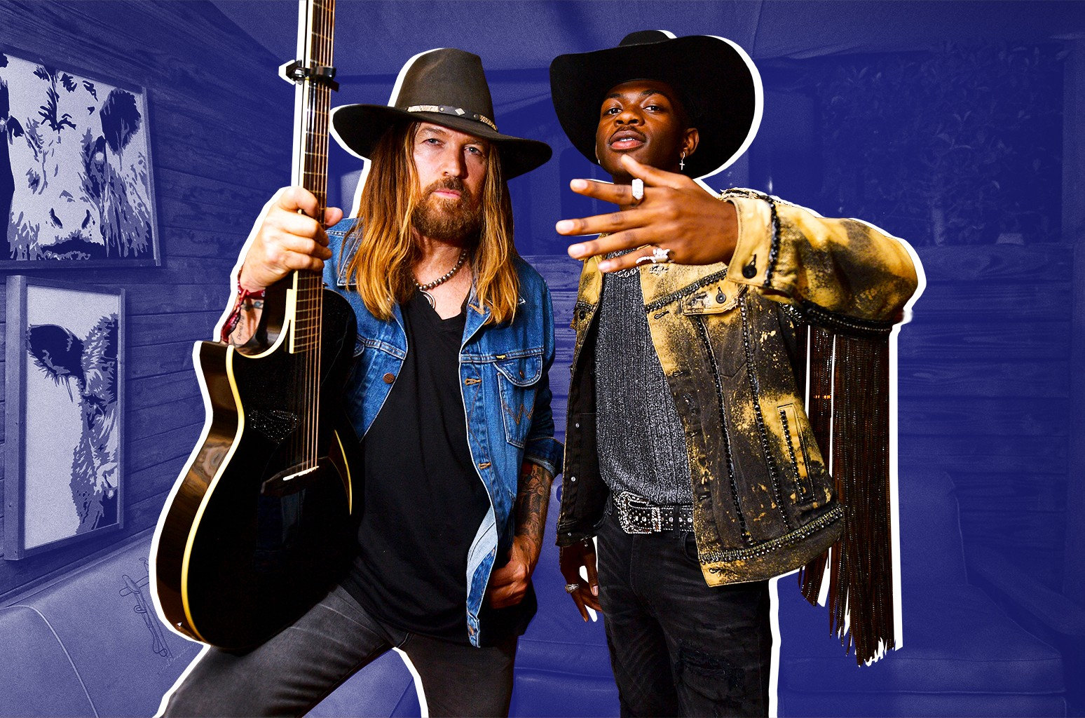 Billy Ray Cyrus (left) and Lil Nas X