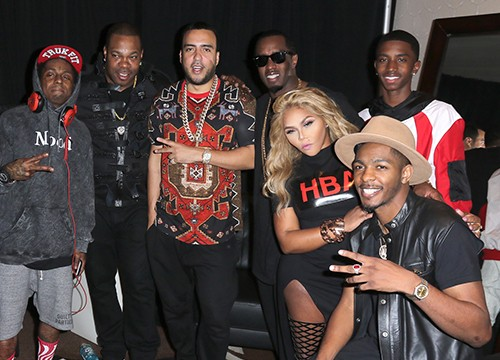 Lil Wayne, Busta Rhymes, French Montana, Puff Daddy, Lil' Kim and Christian Combs