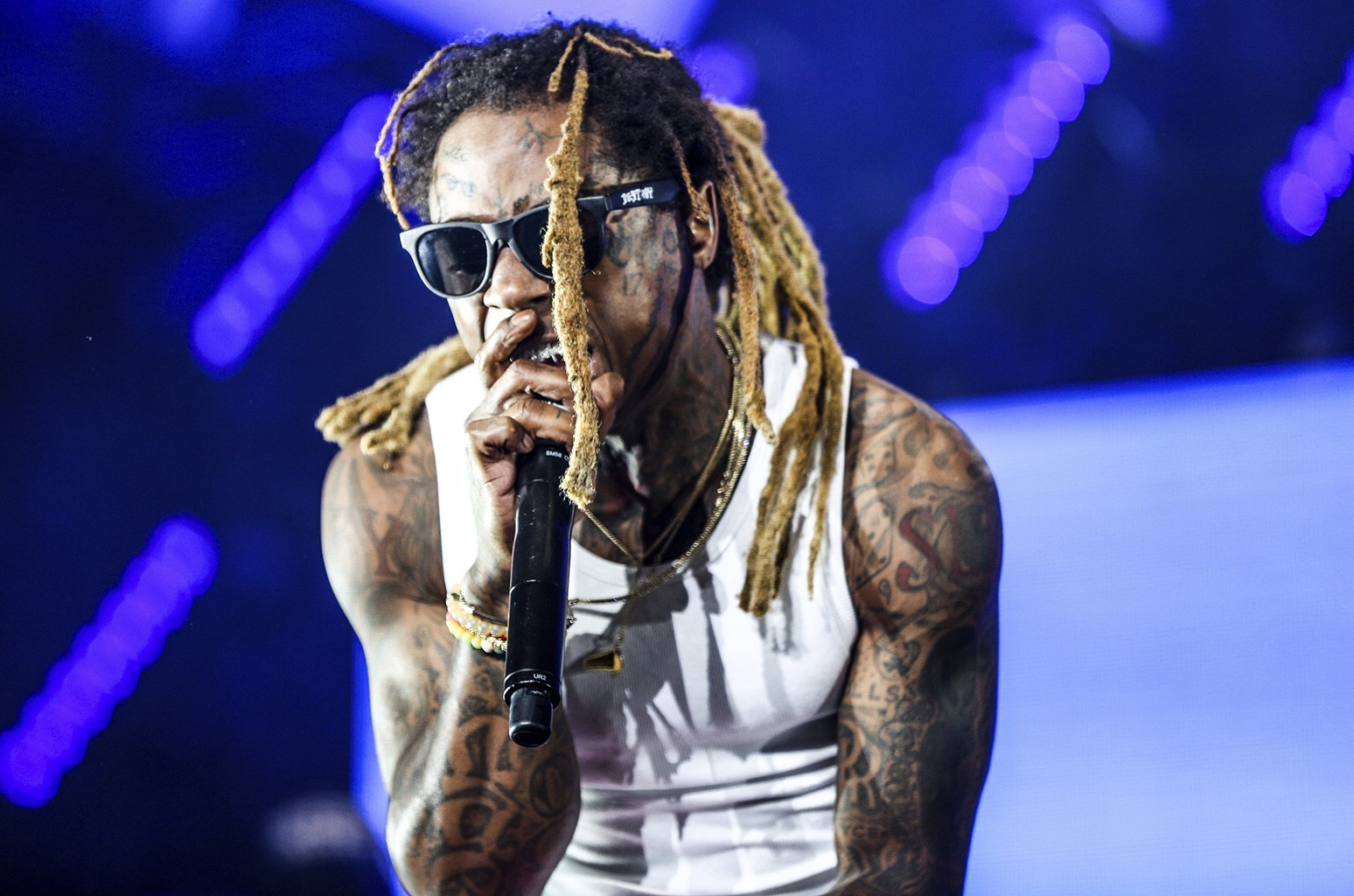 Lil Wayne performs at the 2016 BET Experience