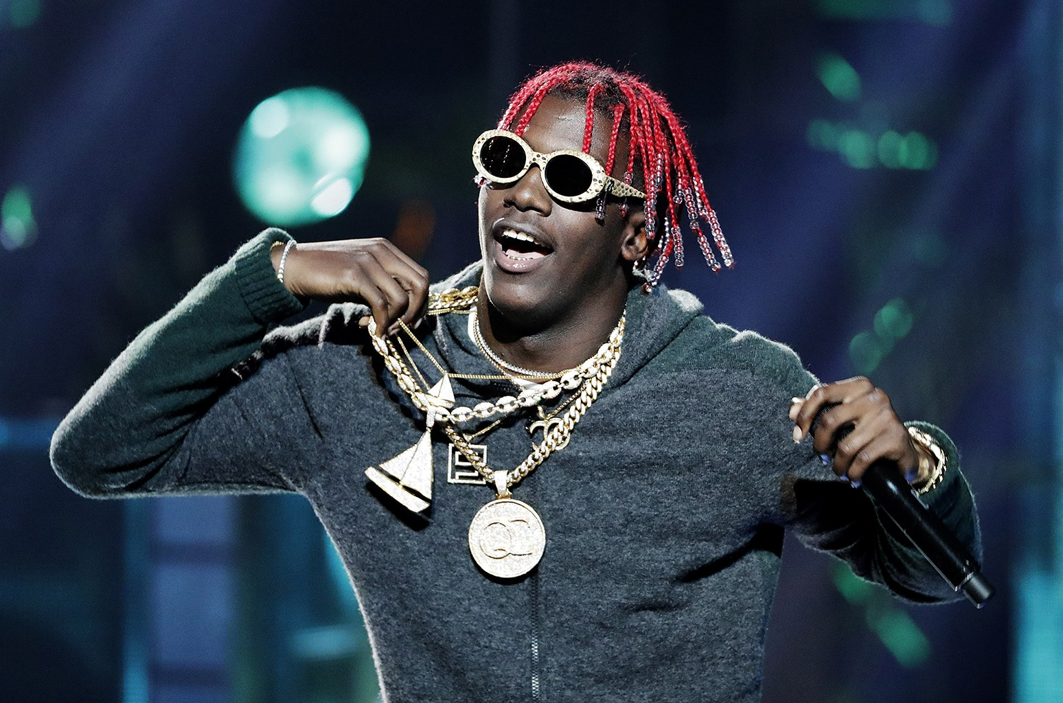 Lil Yachty performs during the BET Hip Hop Awards in Atlanta on Sept. 17, 2016.