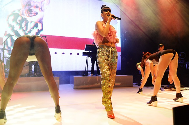 Lily Allen performs at O2