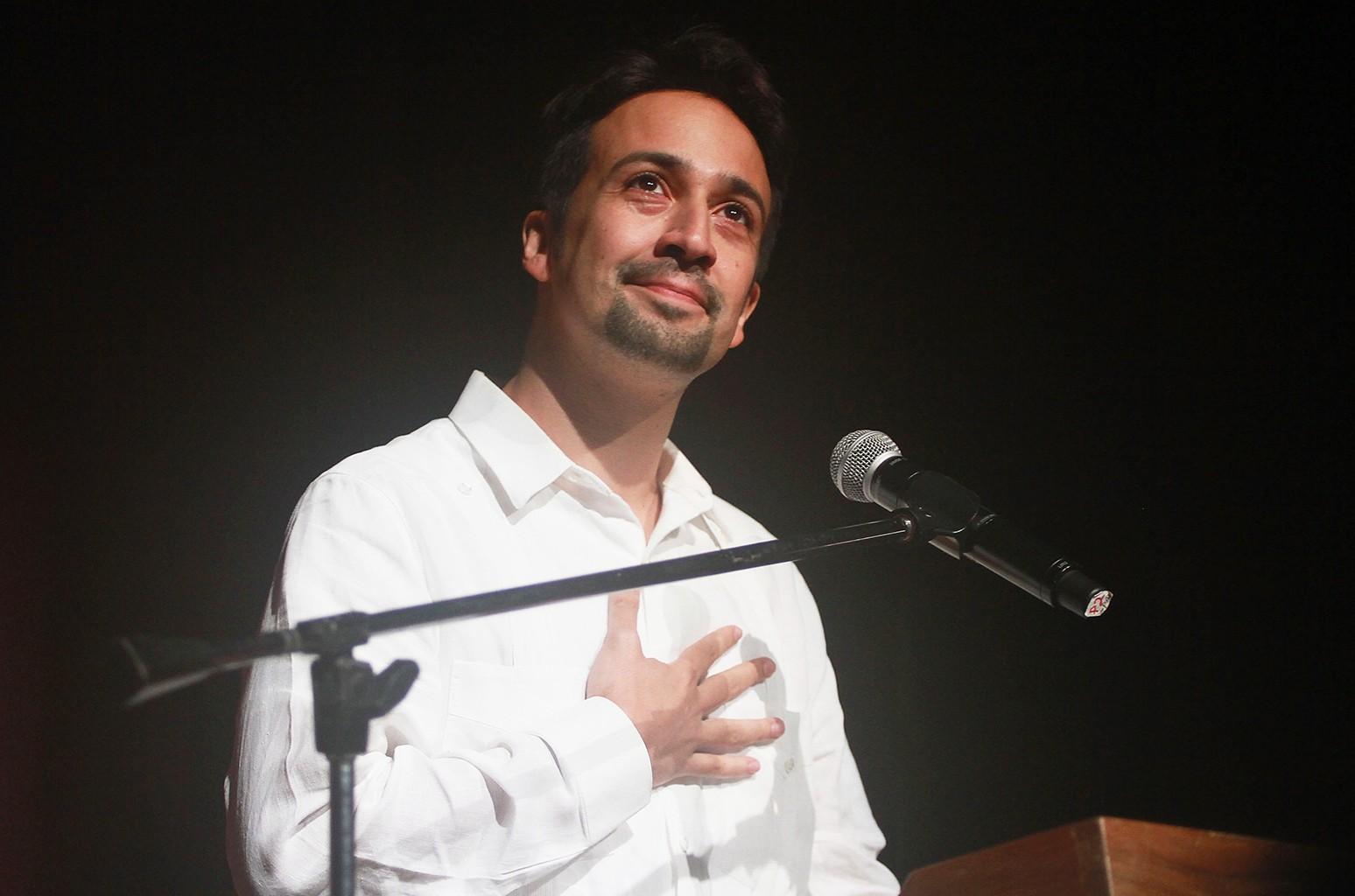 Lin-Manuel Miranda at Enclave de Poesia