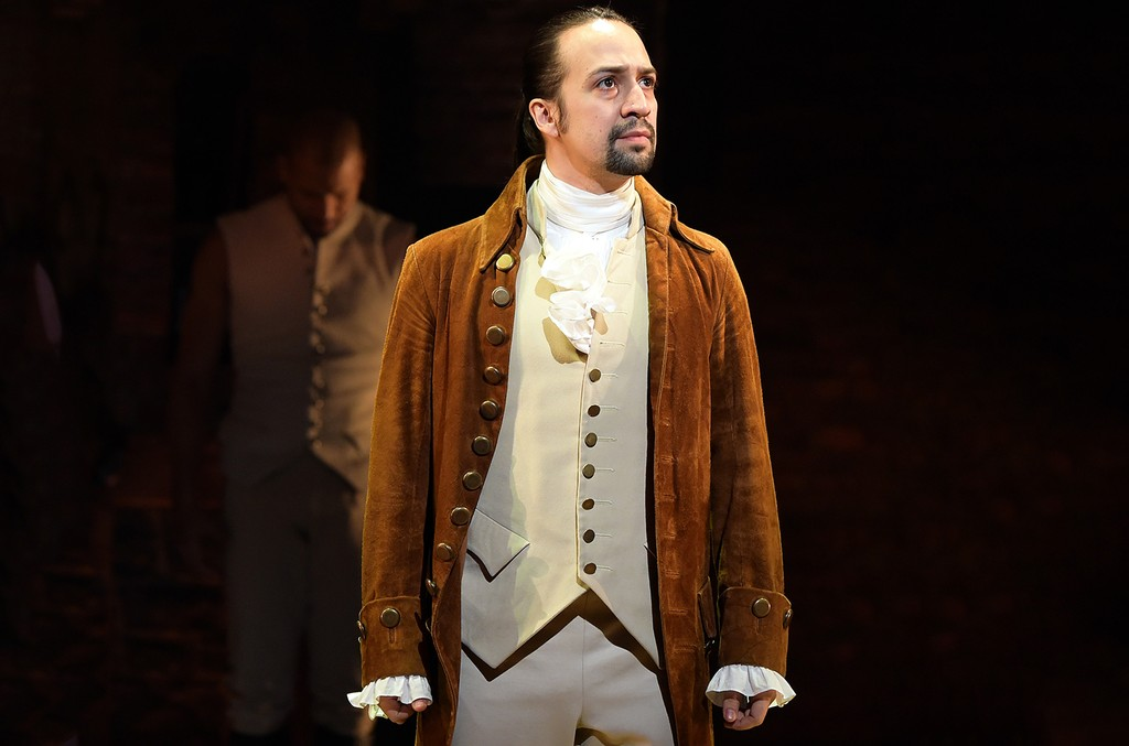 "Lin-Manuel Miranda during the ""Hamilton"" performance for The 58th Grammy Awards"