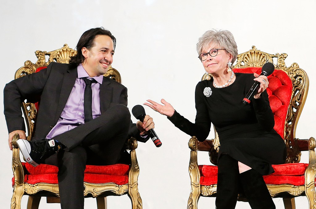 Lin-Manuel Miranda and Rita Moreno