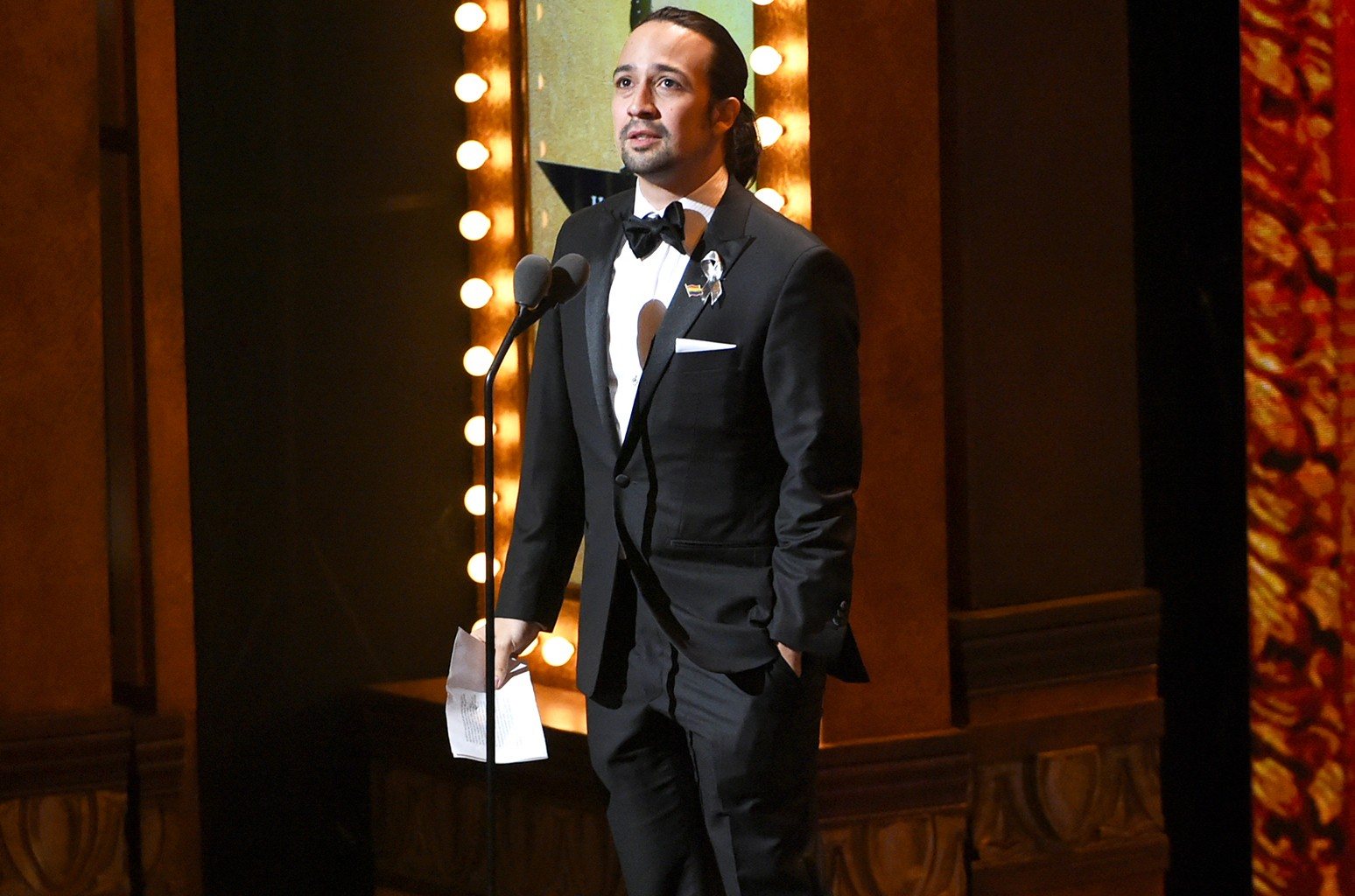 Lin-Manuel Miranda at the 2016 Tony Awards