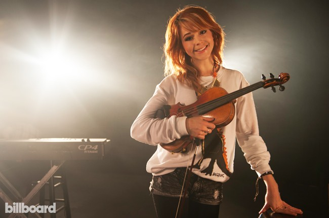 Lindsey Stirling performs at Billboard's studio in Chelsea, New York on June 16, 2015.
