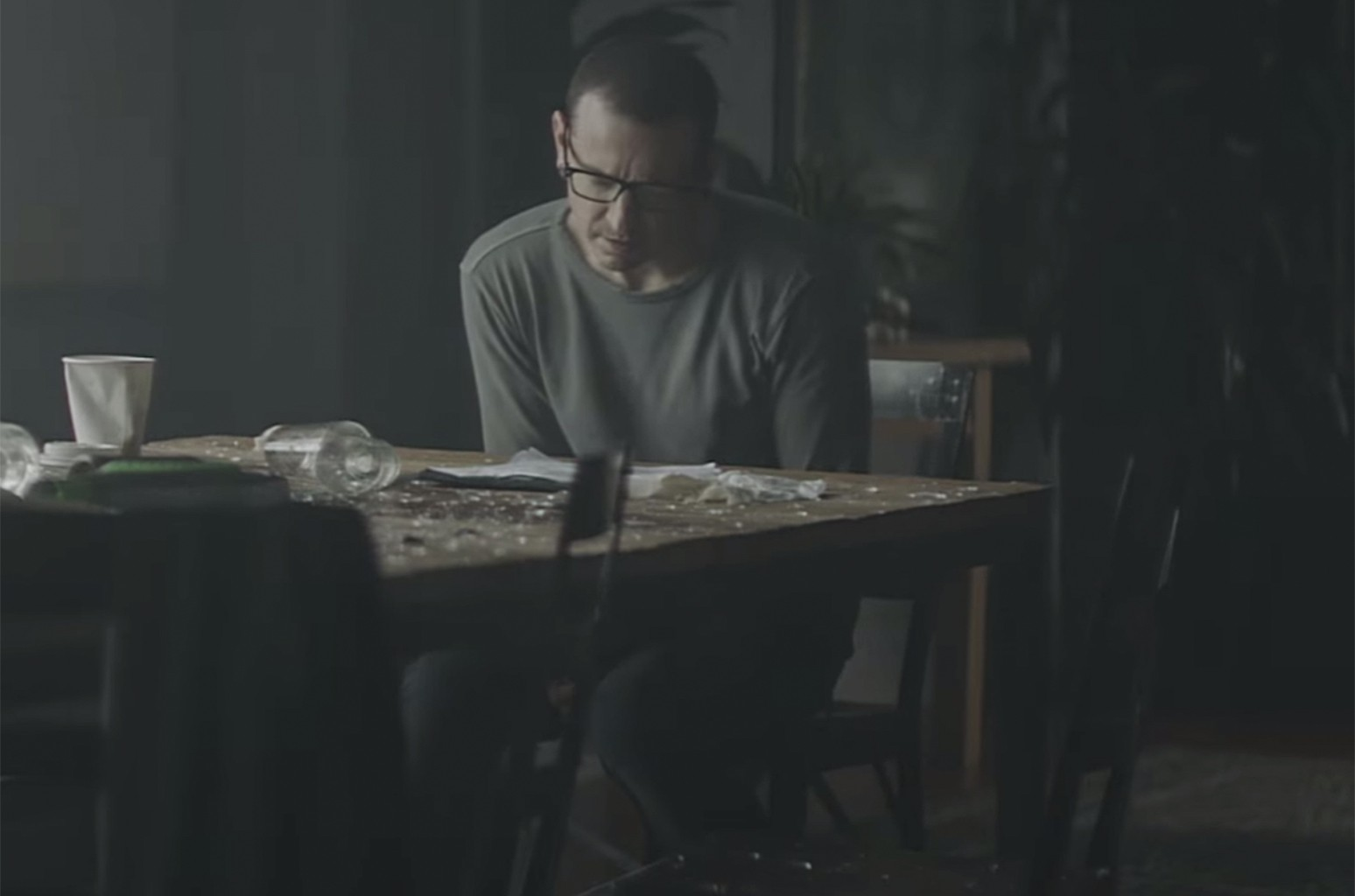 "A scene from the video for ""Heavy"" by Linkin Park."