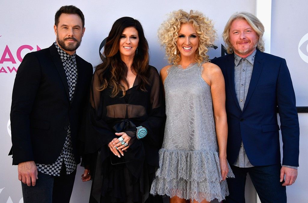 Jimi Westbrook, Karen Fairchild, Kimberly Schlapman, and Phillip Sweet of Little Big Town attend the 52nd Academy Of Country Music Awards at Toshiba Plaza on April 2, 2017 in Las Vegas.