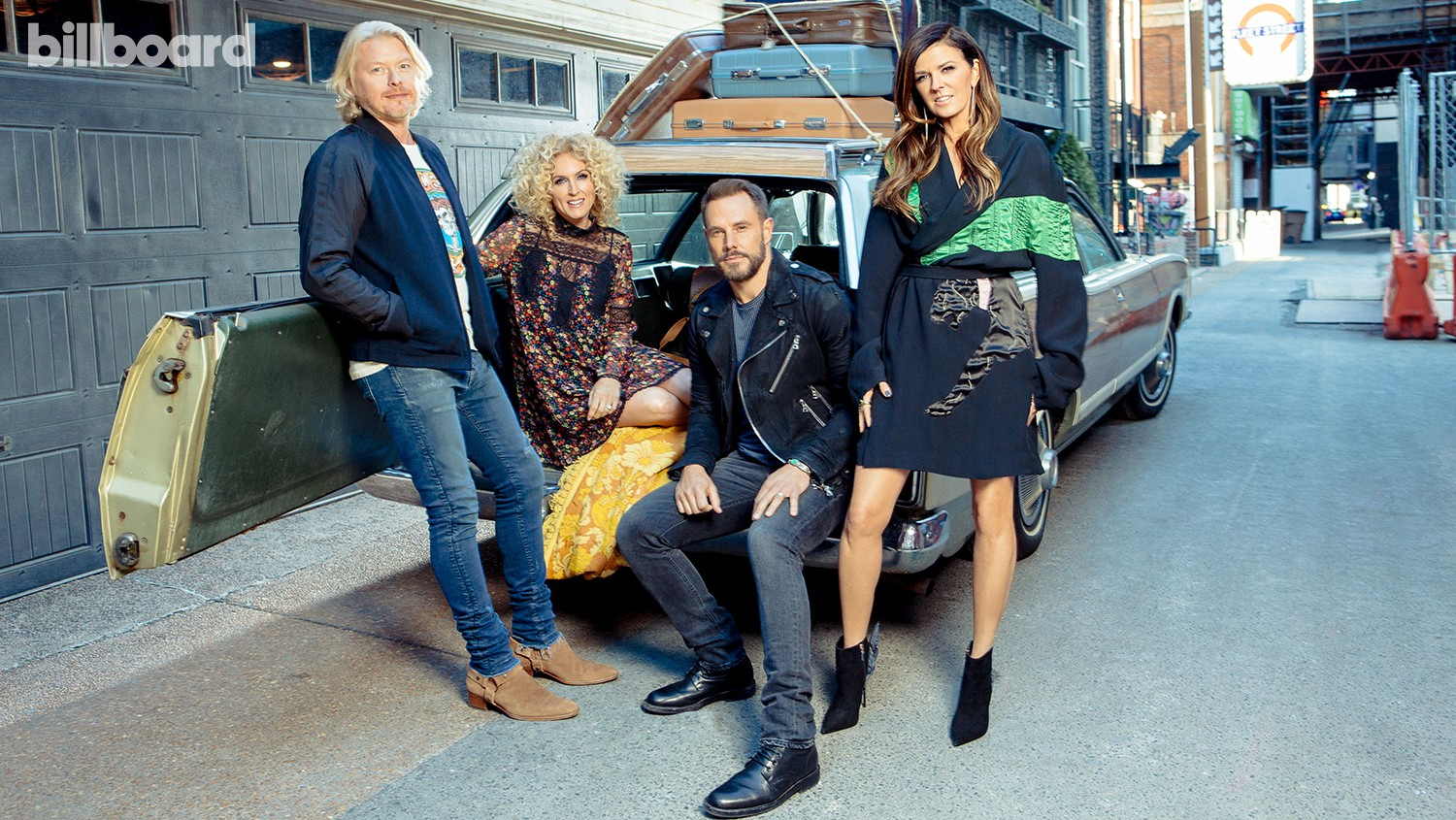From left: Phillip Sweet, Kimberly Schlapman, Jimi Westbrook and Karen Fairchild of Little Big Town photographed March 15 at Printers Alley in Nashville.