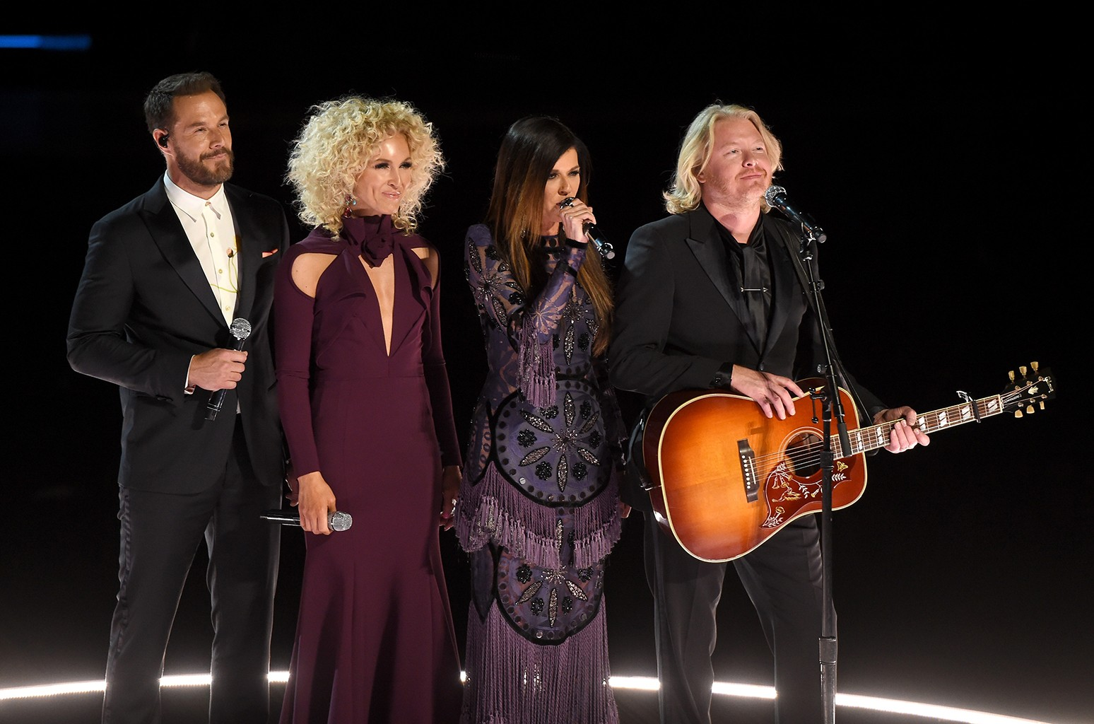 Little Big Town speak onstage during The 59th Grammy Awards at Staples Center on Feb. 12, 2017 in Los Angeles.
