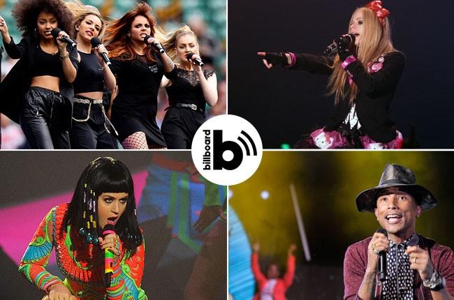 Little Mix, Avril Lavigne, Pharrell Williams, Katy Perry
