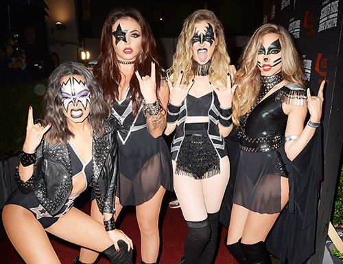 Little Mix attend the KISS FM Haunted House Party