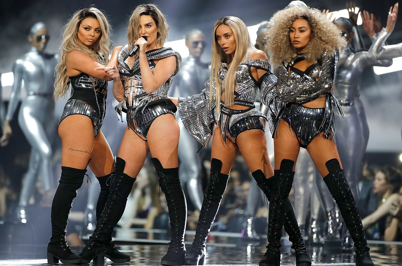Little Mix perform at The O2 Arena on Feb. 22, 2017 in London.